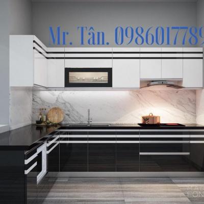 Tủ bếp chữ L nhà Chị Vân Vinhome RiverSide - Gia lâm - Hà Nội