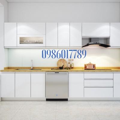 Mẫu tủ nhựa cho diện tích căn bếp nhỏ nhà chị Thoa Bùi , Đường Văn Cao , thành phố Hải Phòng