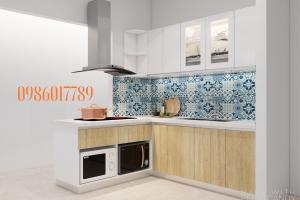 Tủ bếp nhỏ đầy đủ công năng nhà anh Thắng - Ngọc Khánh - Ba Đình - Hà Nội