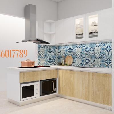 Tủ bếp nhỏ , đầy đủ công năng nhà anh Thắng ,Ngọc Khánh , Ba đình, Hà nội