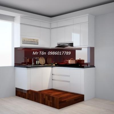 Tủ bếp chữ L nhà Chị Yến , Nguyễn Chí Thanh, Thanh Xuân, Hà Nội