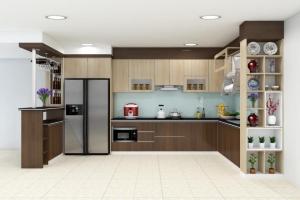 Tủ bếp nhựa cổ điển thay cho căn bếp gỗ nhà chị Lan Anh, đường Tô hiệu, tp Hải Phòng