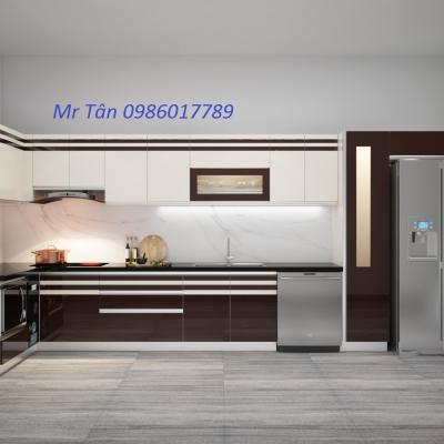 Tủ bếp chữ L nhà Anh Thiện - đường Trần phú - Hải phòng